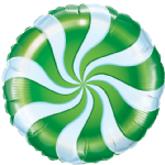 "18"" Green Candy Swirl Foil Balloon"